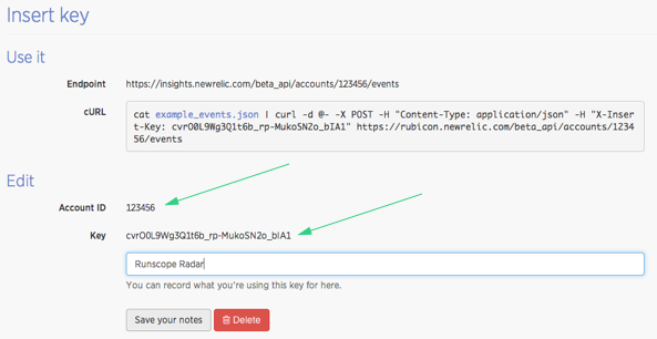 New Relic Insights Account Information