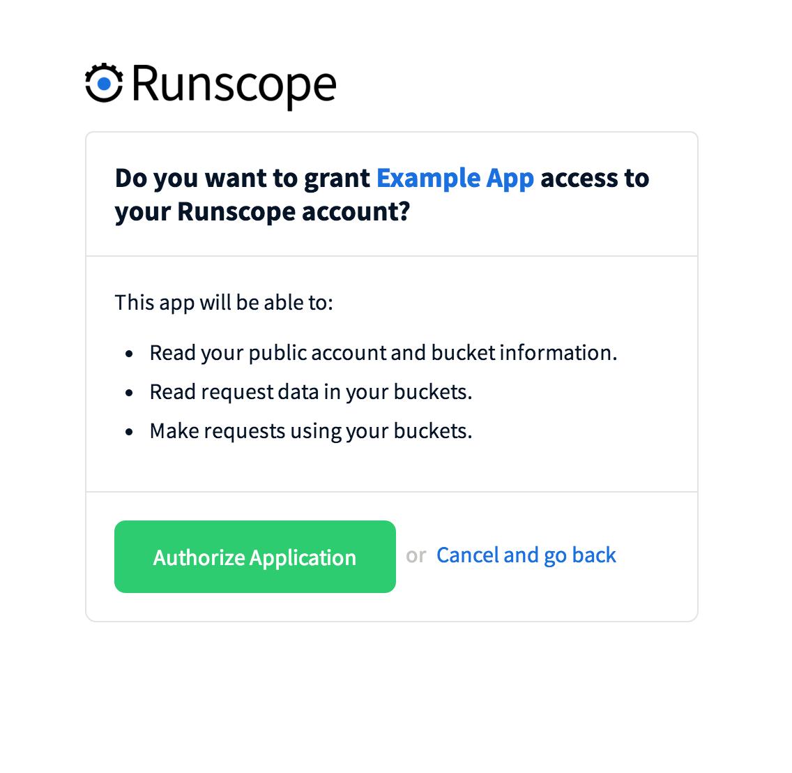 API: Authentication · Docs · Runscope API Performance