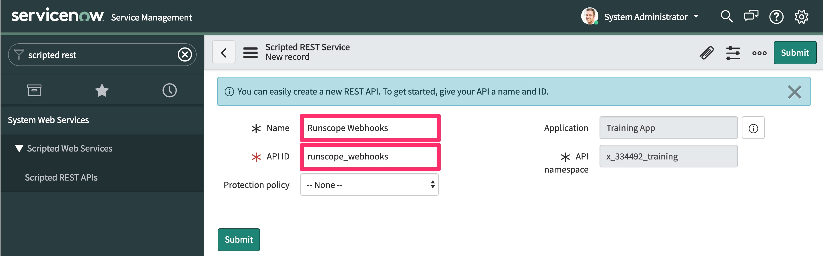 Integrating Runscope with ServiceNow · Docs · Runscope API