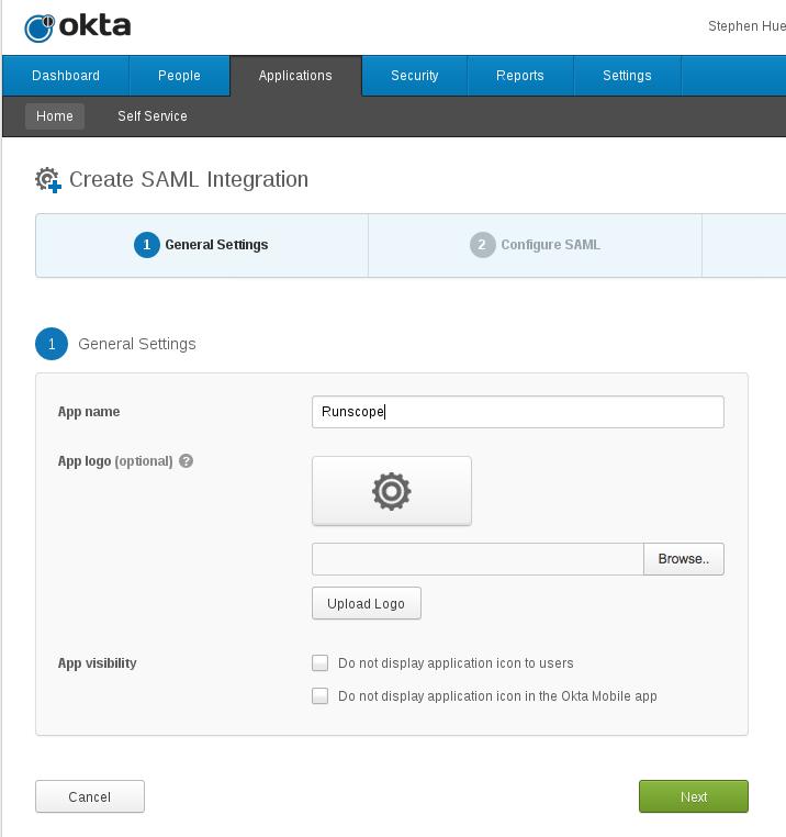 SAML Single Sign-On with Okta · Docs · Runscope API